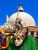 Beautiful Venice city scene. With souvenirs and church royalty free stock images
