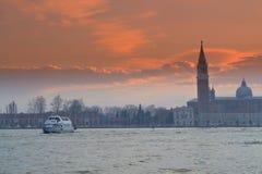 Beautiful Venice lagoon  sunset Royalty Free Stock Photography