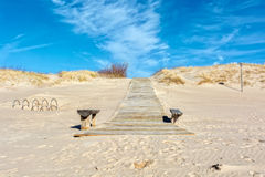 Beautiful Ventspils beach in sunny day Royalty Free Stock Image