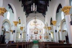 Beautiful Veracruz church in Medellin city Stock Photography