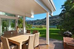Beautiful veranda with furniture Royalty Free Stock Images
