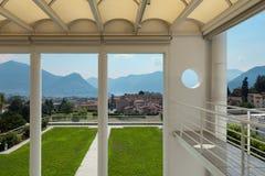Beautiful veranda with panoramic view Stock Images