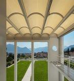 Beautiful veranda with panoramic view Royalty Free Stock Photo