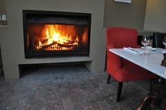 Fireside  verandah table wine Cape Town Stock Photography