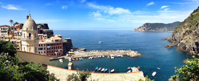 Beautiful Vernazza. Picture of harbour in Vernazza, Cinque Terre, Italy Royalty Free Stock Photo