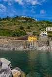 Beautiful Vernazza village in Cinque Terre National Park, Italy Royalty Free Stock Photos