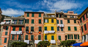 Beautiful Vernazza village in Cinque Terre National Park, Italy Royalty Free Stock Image