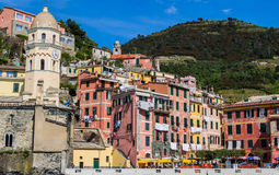 Beautiful Vernazza village in Cinque Terre National Park, Italy Stock Photos