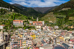 Beautiful Vernazza village in Cinque Terre National Park, Italy Royalty Free Stock Images