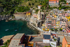 Beautiful Vernazza village in Cinque Terre National Park, Italy Stock Images