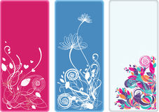 Beautiful vertical floral bookmarks and banners Royalty Free Stock Image