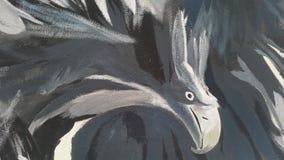 Eagle graffiti on public wall vector illustration