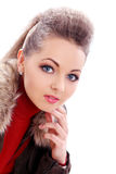 Beautiful and very cute lady Royalty Free Stock Images