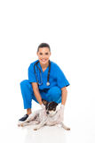 Veterinary assistant dog Stock Image