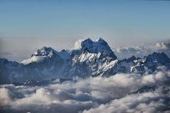 View of Mount Ushba from Elbrus Stock Photography