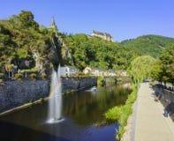 The beautiful Vianden Castle Stock Image