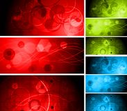 Beautiful vibrant banners Stock Photo
