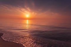 Beautiful vibrant Black sea sunrise in Odessa royalty free stock photography