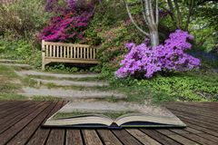 Beautiful vibrant landscape image of footpath border by Azalea f