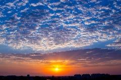 Beautiful vibrant sunrise on spring (summer) morning Stock Image