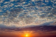 Beautiful vibrant sunrise on spring (summer) morning Stock Photography