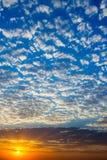Beautiful vibrant sunrise on spring (summer) morning Royalty Free Stock Photos