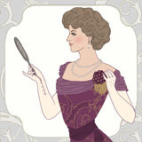 Beautiful victorian lady Royalty Free Stock Photo