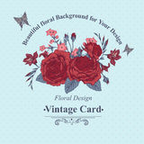 Beautiful Victorian Roses in Vintage Style for Royalty Free Stock Photo