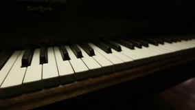Vintage Grand Piano Keys Dolly stock video footage