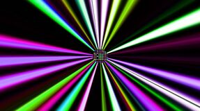 Beautiful videos that glow, shine brightly that regulate subtle movements with colorful stripes on a black background