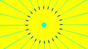Beautiful videos that glow, shine brightly that regulate subtle movements with colorful stripes on a yellow background