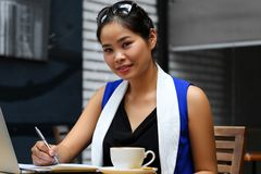 Beautiful vietnam smiling female student Royalty Free Stock Photos