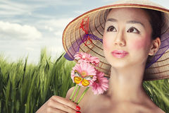 Beautiful vietnamese Royalty Free Stock Image