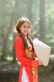 Beautiful vietnamese girl Royalty Free Stock Photos