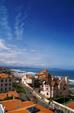 Beautiful view. Town, cost ocean, blue sky Stock Image