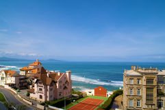 Beautiful view. Town, cost ocean, blue sky Stock Photography