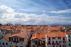 Beautiful view. Town, red roofs of houses Royalty Free Stock Photography