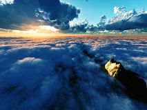 Beautiful view above clouds Stock Images