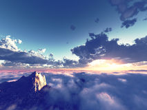 Beautiful view above clouds Royalty Free Stock Photos
