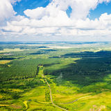 Beautiful view above the earth royalty free stock image