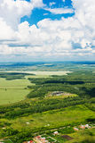 Beautiful view above the earth Royalty Free Stock Photography