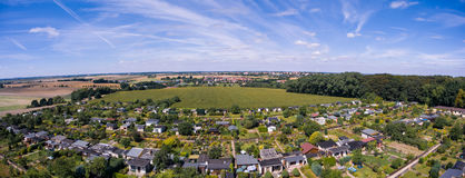 Beautiful view above the earth on landmark down. Royalty Free Stock Photos