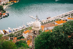 Beautiful view from above on the Kotor and Bay of Kotor Stock Images