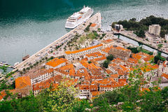 Beautiful view from above on the Kotor and Bay of Kotor Stock Photo