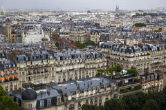Beautiful view from above of Paris royalty free stock photos
