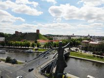 Beautiful view from above. Rooftop monument on riverside of Vilnus. Capital of Lithuania, Europe. Drone photography. Created by stock images