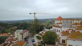 Beautiful view from above Sintra, Portugal. Sintra National Palace. Top view.