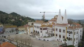 Beautiful view from above the Sintra, Portugal. Sintra National Palace. Top view.