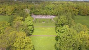 Beautiful view from the air to the geometry of the landscape in Catherine`s Park stock video