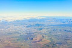 Beautiful view from the aircraft to the clouds Royalty Free Stock Photos